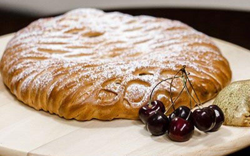 Пирог Вишня с грушей