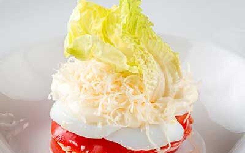 Салат Слоеный из помидоров с сыром