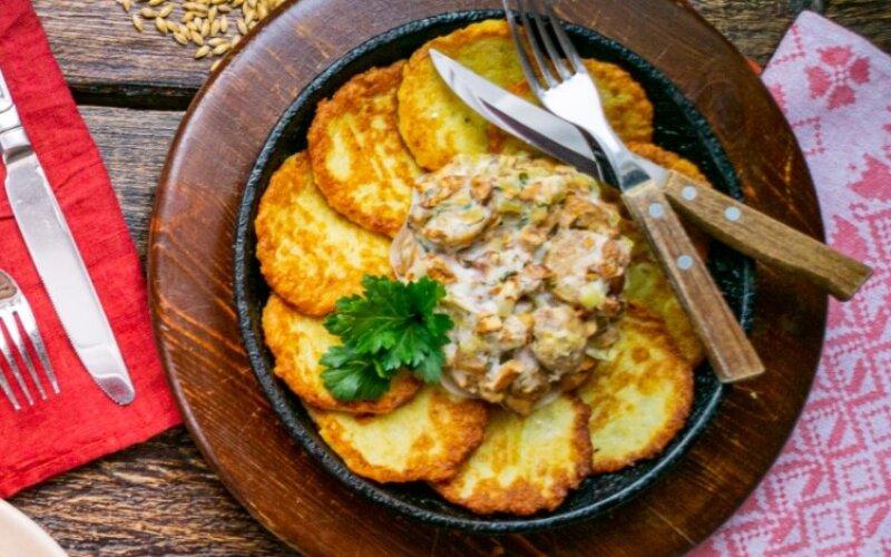 Горячее блюдо «Гаспадарская ежа»