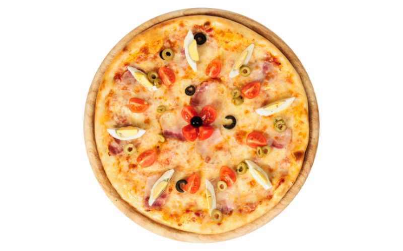 Пицца  «Грудинка с яйцом»