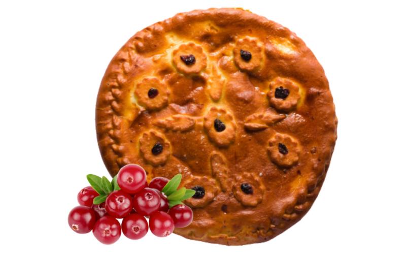 Пирог «Осетинский» с брусничным джемом