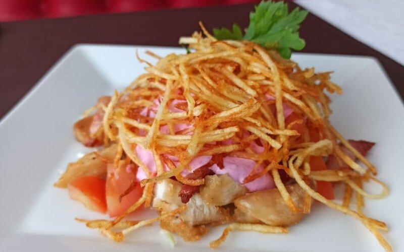 Салат «Кармен» с картофелем пай