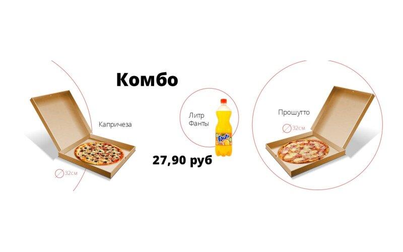 Комбо «2 пиццы + напиток»