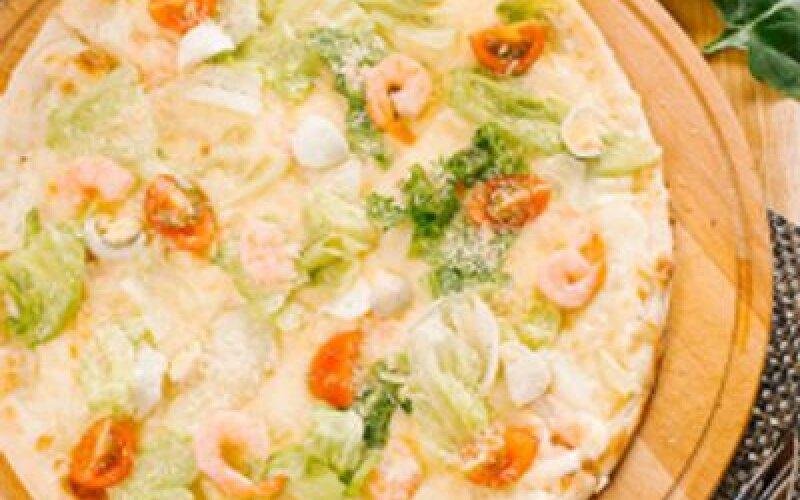 Пицца Цезарь с креветками