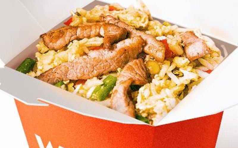 Курица в соусе Карри с рисом Басмати