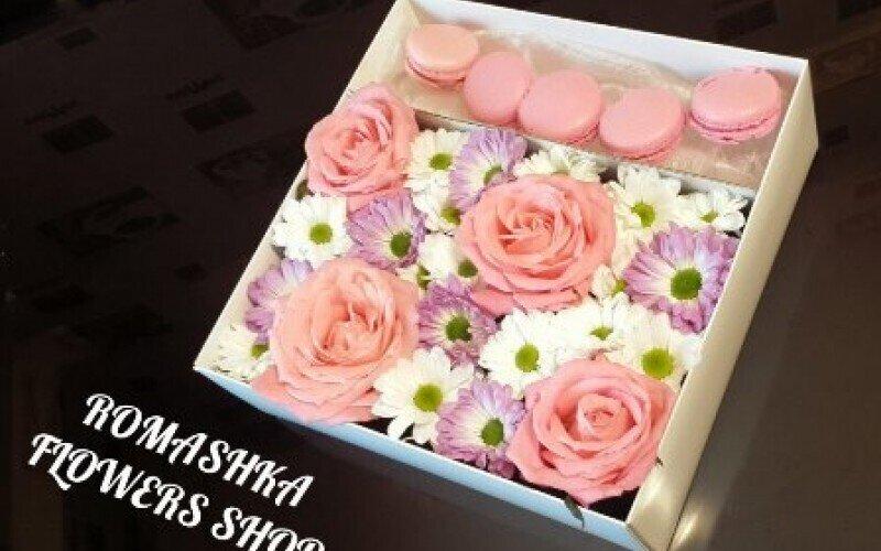 Коробка «Розовое настроение» +5 макарун