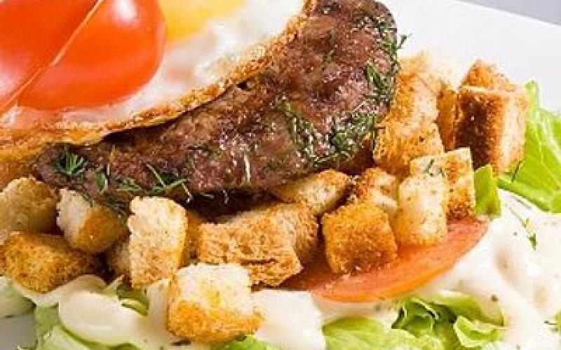 Бургер-салат