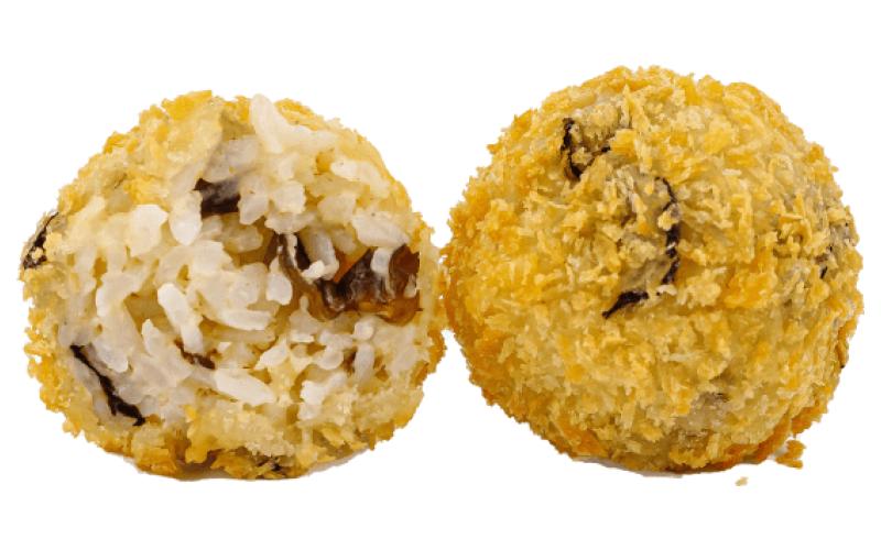 Рисовые шарики с шиитаке