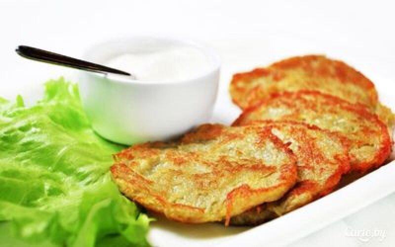 Драники картофельные сосметаной