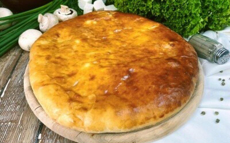 Осетинский пирог с курицей и грибами
