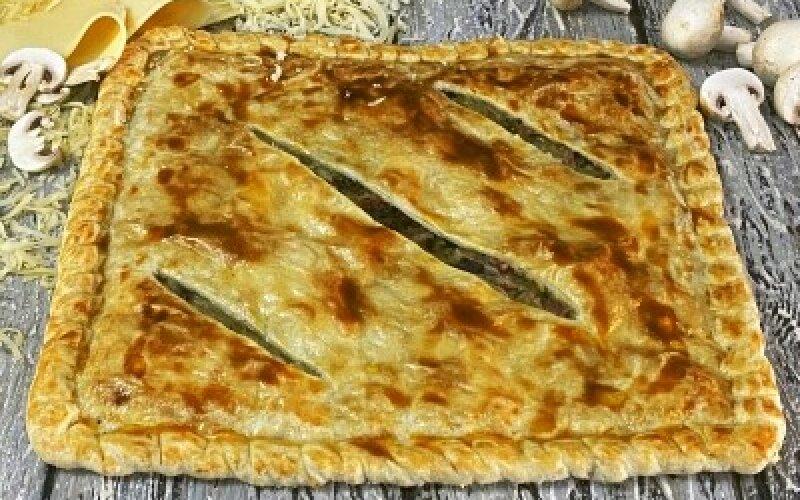 Пирог «С курицей, грибами, сыром»