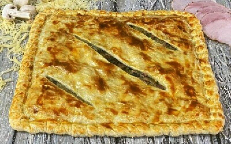 Пирог «С ветчиной, грибами, сыром»