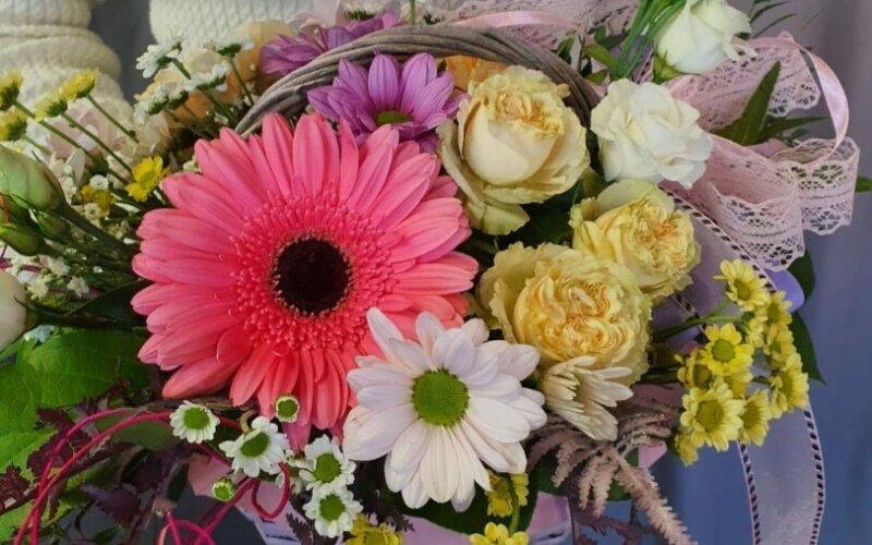 Цветочная корзинка «Для мамочки»