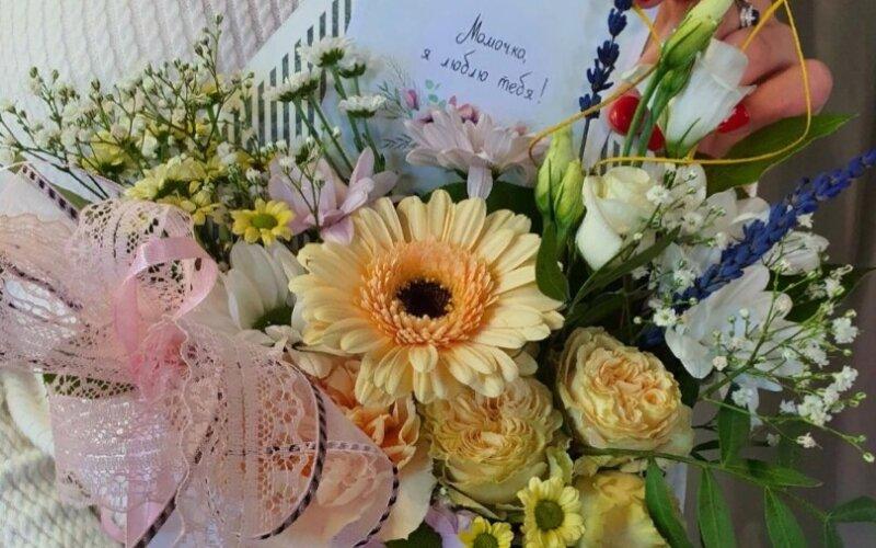 Цветочное письмо «Любимой мамочке»