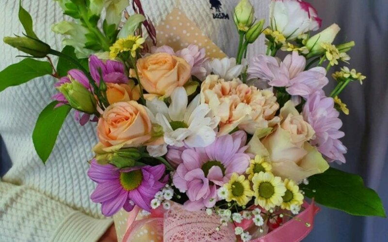 Цветочный кулёк «Нежность»