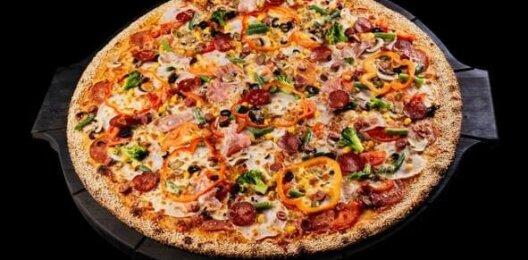Пицца с мясной начинкой